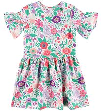 Freds World Dress - Aloha - White w. Flowers