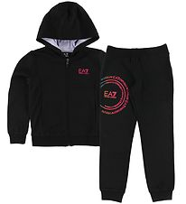 EA7 Sweat Set - Track - Black/Pink