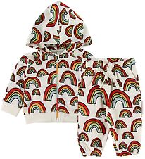 Stella McCartney Kids Sweat Set - White w. Rainbows