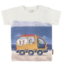 Hust and Claire T-shirt - Anker - White w. Print