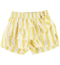 Hust and Claire Shorts - Haley - Yellow/Ivory Striped
