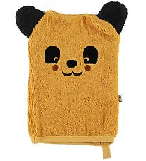 Pippi Washglove - Mineral Yellow w. Bear