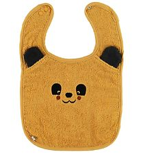 Pippi Bib - Terry - Mineral Yellow w. Bear