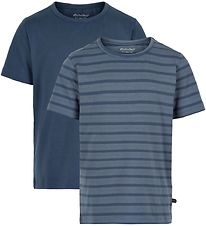 Minymo T-shirts - 2-pack - New Navy w. Stripes