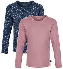 Minymo Long Sleeve Tops - 2-pack - Mesa Rose/New Navy