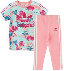 adidas Originals Leggings/Tunic - Rose/Turquoise