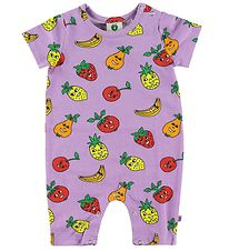 Småfolk Summer Romper - Purple w. Fruits
