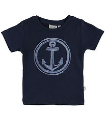Wheat T-shirt - Anchor - Navy w. Anchor