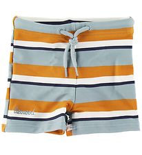 Liewood Swim Pants - Otto - UV50+ - Blue/White/Brown Striped