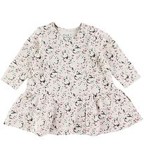 Hust and Claire Dress - Delaila - White w. Rabbits/Flowers