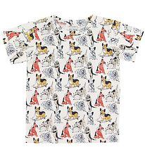 Hust and Claire T-shirt - Anker - Creme w. Dogs