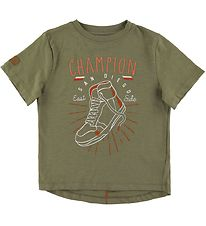Hust and Claire T-shirt - Angus - Army Green w. Print