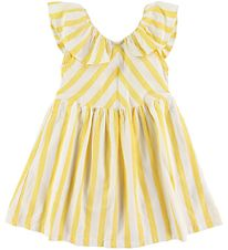 Hust and Claire Dress - Dorthea - Yellow/White Striped