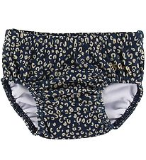Soft Gallery Swim Diaper - UV50+ - Miki - Dress Blue w. Leopard