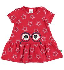 Freds World Dress - Star Peep - Traffic Red w. Stars