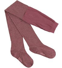 Molo Tights - Glitter Tights - Raspberry Jam