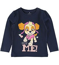 Name It Long Sleeve Top - Hannah - Dark Sapphire m. Paw Patrol