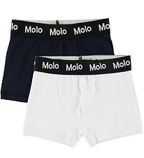 Molo Boxers - Justin 2-Pack - Dark Navy/White