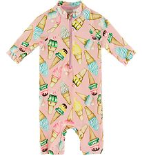 Name It Coverall Swimsuit - Zica - UV50+ - Pink Nectar w. Ice