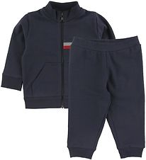 Moncler Set - Cardigan/Trousers - Maglia - Navy