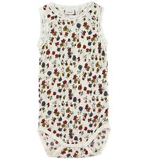 Name It Bodysuit - Wool - NmfWang - Noos - Snow White w. Flowers