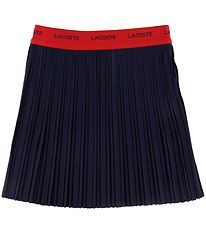 Lacoste Skirt - Pleated - Navy w. Red