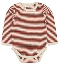 Pippi Bodysuit l/s - Marsala/White Striped
