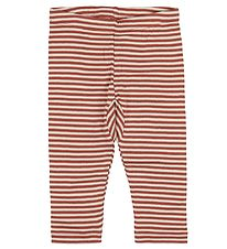 Pippi Leggings - Marsala/White Striped