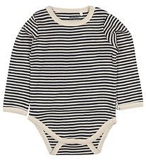 Pippi Bodysuit l/s - Blue/White Striped