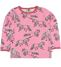 Småfolk Long Sleeve Top - Pink w. Unicorns