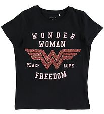 Name It T-shirt - Filuca - Black w. Wonderwoman