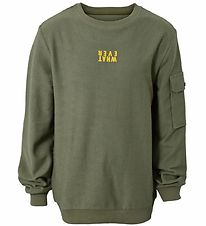 Hound Sweatshirt - Crew Neck - Army Green