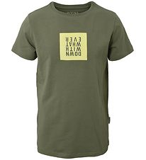 Hound T-shirt - Army Green w. Print