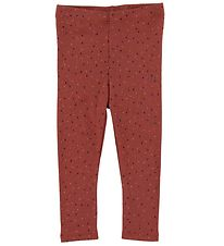 Soft Gallery Leggings - Baby Paula - Barn Red/Trio Dotties