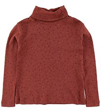 Soft Gallery Long Sleeve Top - Ena - Barn Red/Trio Dotties