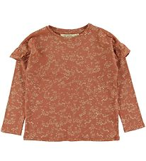 Soft Gallery Long Sleeve Top - Editha - Autumn Leaf/Flowerdust