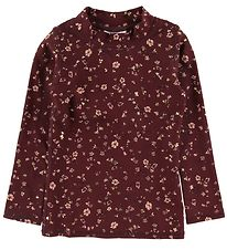 Soft Gallery Swim Top l/s - UV50+ - Astin - Oxblood Red/Flowery