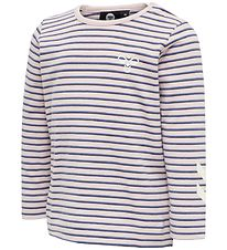 Hummel T-shirt - HMLKoral - Pink/Purple Striped