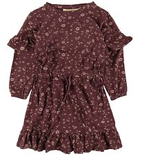 Soft Gallery Dress - Gali - Oxblood Red/Flowery