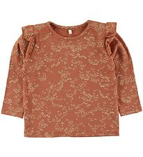 Soft Gallery Long Sleeve Top - Bella - Autumn Leaf/Flowerdust