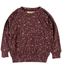 Soft Gallery Long Sleeve Top - Galou - Oxblood Red/Flowery