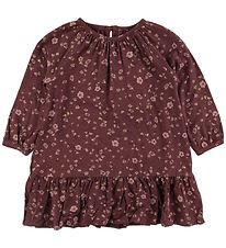 Soft Gallery Dress - Alma - Oxblood Red/Flowery