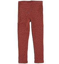 Soft Gallery Leggings - Paula - Barn Red/Trio Dotties