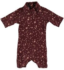 Soft Gallery Coverall Swimsuit - UV50+ - Rey - Oxblood Red/Flowe