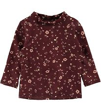 Soft Gallery Swim Top l/s - UV50+ - Baby Astin - Oxblood Red/Flo