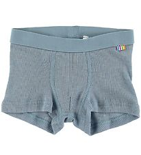 Joha Boxers - Rib - Wool/Silk - Light Blue
