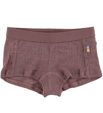 Joha Hipsters - Rib - Wool/Silk - Plum