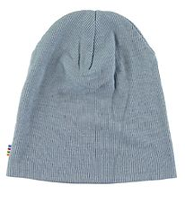 Joha Beanie - Double Layer - Rib - Wool/Silk - Light blue
