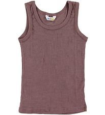 Joha Undershirt - Rib - Wool/Silk - Plum