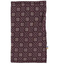 Joha Tube Scarf - Wool - Purple w. Pattern